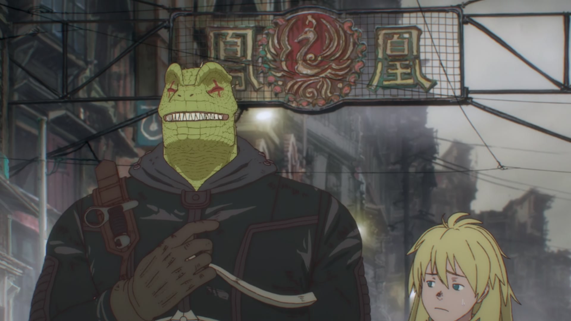 Caiman & Nikaidō from Dorohedoro episode 1